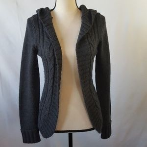 dELiA*s Sweaters - Delia's Gray Cable Knit Cardigan w/Hoodie!!